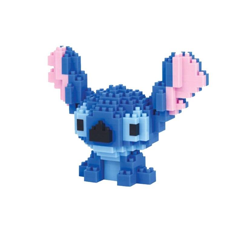 Stitch Minifigures Cartoon Characters Cute Model <font><b>Fun</b></font> Toys Anime <font><b>Action</b></font> <font><b>Figures</b></font> DIY Building Blocks Gifts