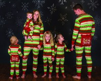 Christmas Family Set One Piece Jumpsuit Pajamas Clothing Christmas Family Pajamas Nightwear Clothes Family Matching Clothes
