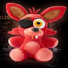 Hot! five nights at freddy's 4 plush doll foxy 10'' 25cm foxy/Bonnie/Chica/Freddy plush toys Kids Christmas gifts