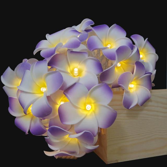 AliExpress & DIY floral garland with led light for wedding decorationartificial plumeria vase flower arrangementroom light decorative