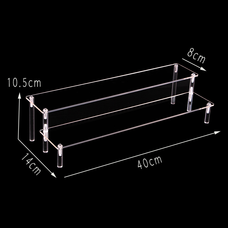 Action figure display stand Toy model display stand decoration put doll doll hand handle trapezoidal shelf car storage blind box