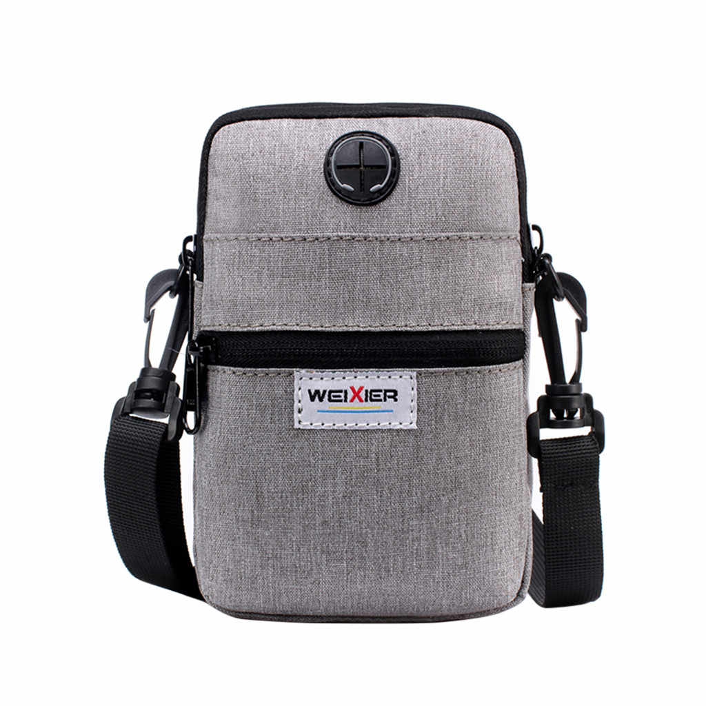 High Quality Men Diagonal Mini Shoulder Multi-Function Mobile Phone Bag Outdoor Sports Bag Hangbag