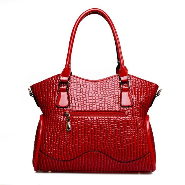 6 PCS/Set New Fashion Women Handbag Crocodile Pattern Composite Bag Women Shoulder Bags PU Leather Ladies Bags Set Wholesale