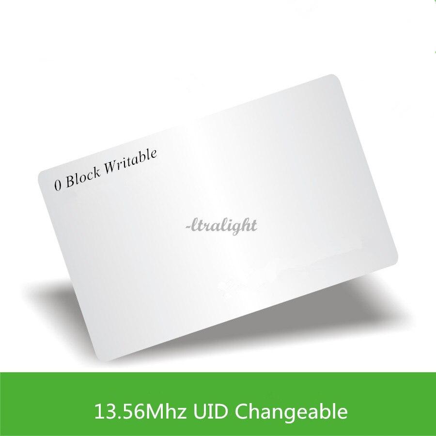 13.56 mhz UID modifiable Carte Ultra-légère 0 bloc inscriptible Chinois Carte Magique