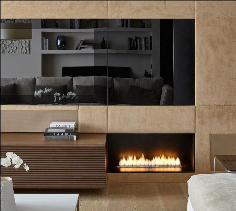 Inno Living Fire 36 Inch Ethanol Burner Electric Modern Fireplace Luxury