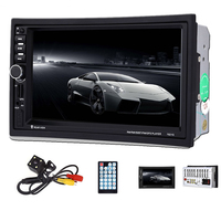 RU Warehouse 7021G 7'' Car Multimedia Player European Map 2Din 1080P MP5 Player Bluetooth USB GPS FM Remote Control Auto Radio