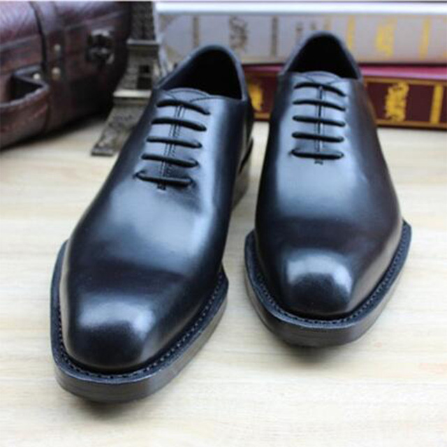 Sipriks Pria Goodyear Welted Sepatu Kulit Impor Hitam Oxfords Kulit Besar  Tunggal Formal Tuxedo Sepatu Bos b176fe2cbc