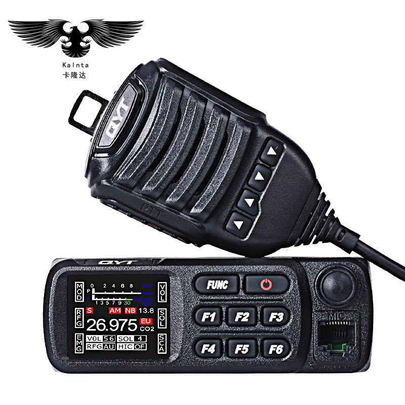 QYT CB-27 HF transceiver walkie-talkie car radios cb radio set 27 MHZ mini walkie talkie ham station intercom 2 way 12V - 24V
