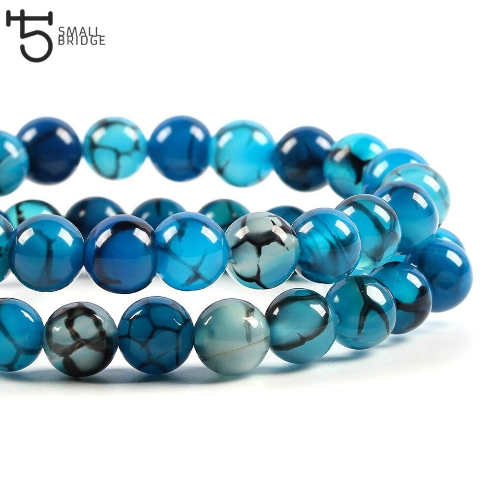 ronde Lapis-lazuli brins de perles naturels bleu 4//6//8mm
