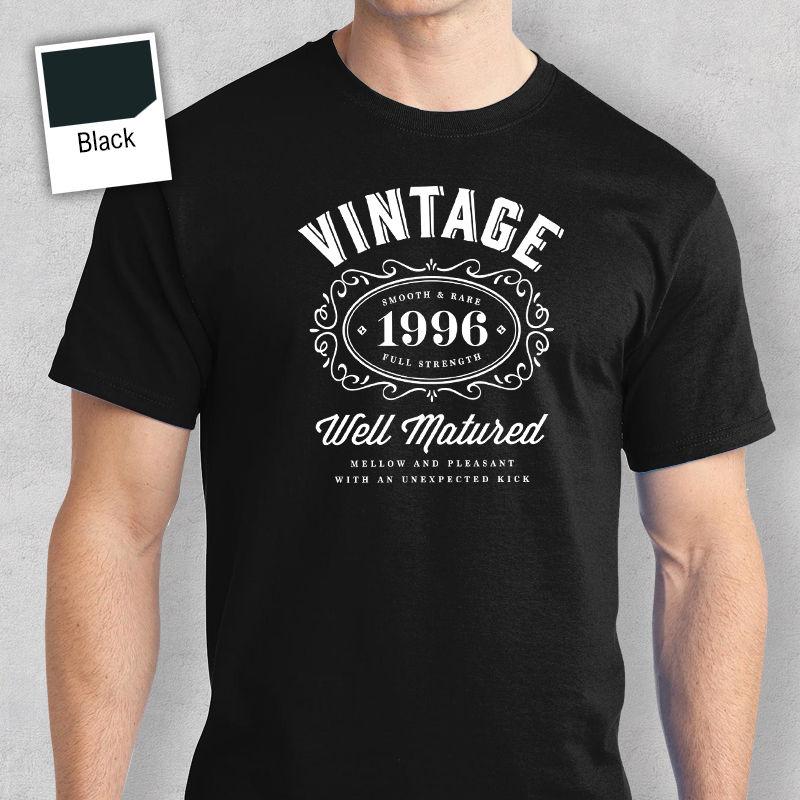 21st подарок на день рождения подарок идеи для Обувь для мальчиков Папа его Для мужчин футболка 21st футболка 1996 Футболка с принтом Для мужчин S ...