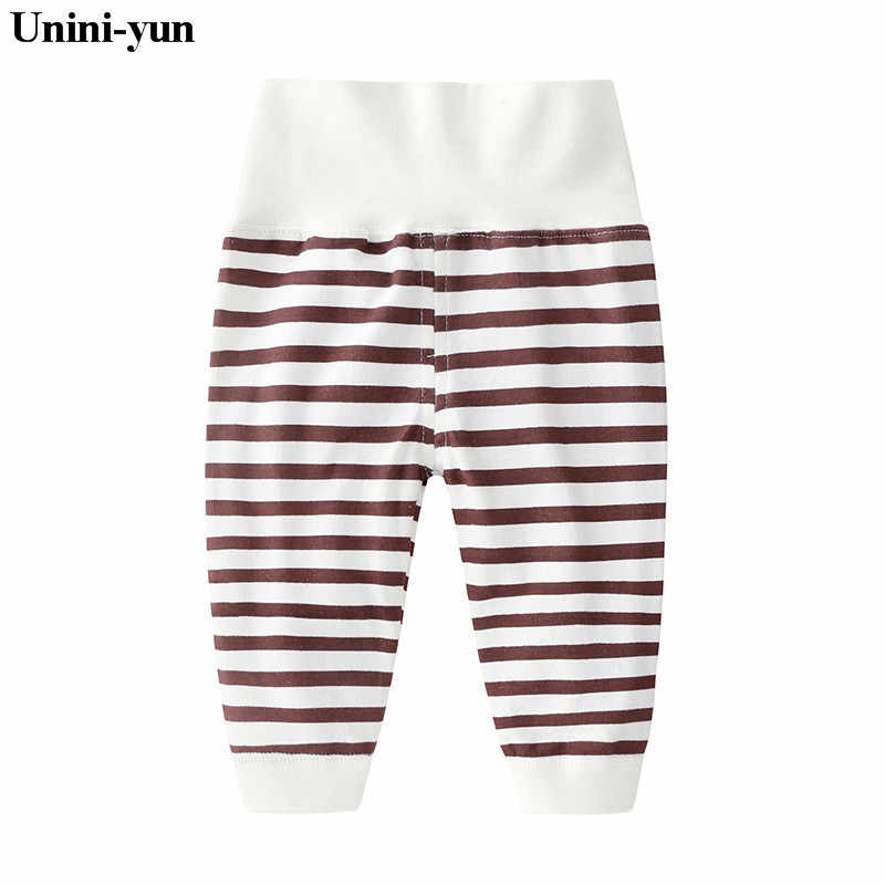 Unini-yun Brand Baby Cotton Pants Girls Boys Baby Pants Causal Baby Trousers Kids Children Clothes high waist  borns pants