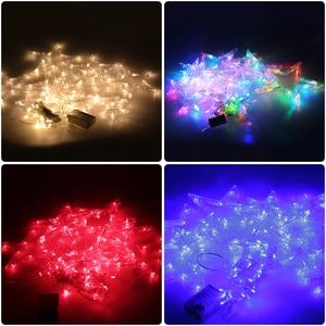 Image 2 - 2.5 เมตร LED Christmas Light AC220V EU โรแมนติก Fairy ผ้าม่าน LED String ไฟสำหรับวันหยุดงานแต่งงาน Garland ตกแต่งพรรค