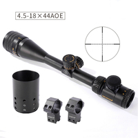 Shooter Hunting ST 4.5 18X44AOE Riflescope Objective Focus Black 1 Inch Tube Diameter Shooting Scope gs1 0352