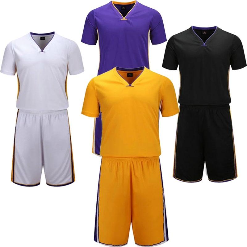 Youth Basketball Sets Boys Short Sleeve Jerseys Shorts Girls Sports Outdoor Trainning Kits Customize Any Logos