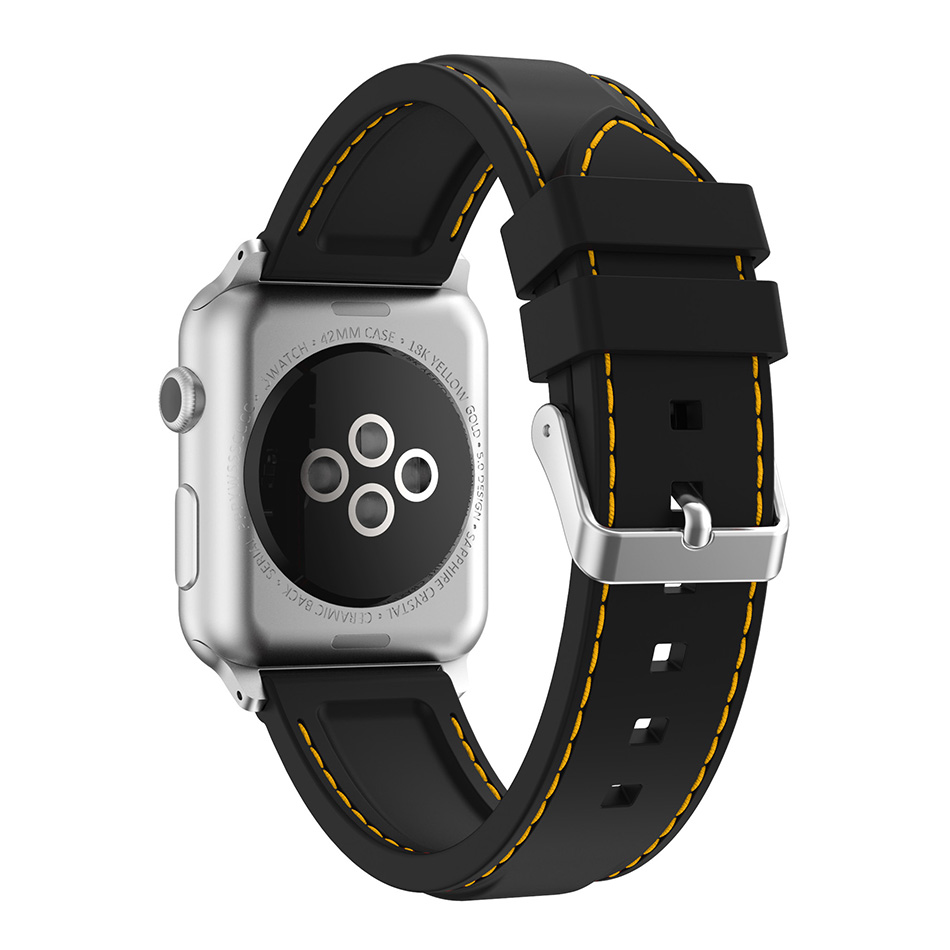 New stitching Silicon Sports Band Colorful wrist Strap for Apple Watch iwatch 38/42mm Bracelet Series 3 2&1 watchbands woven nylon sports band for apple watch outdoors survival strap belt for 38 42mm iwatch series 1 2 3 men s wrist bracelet i71
