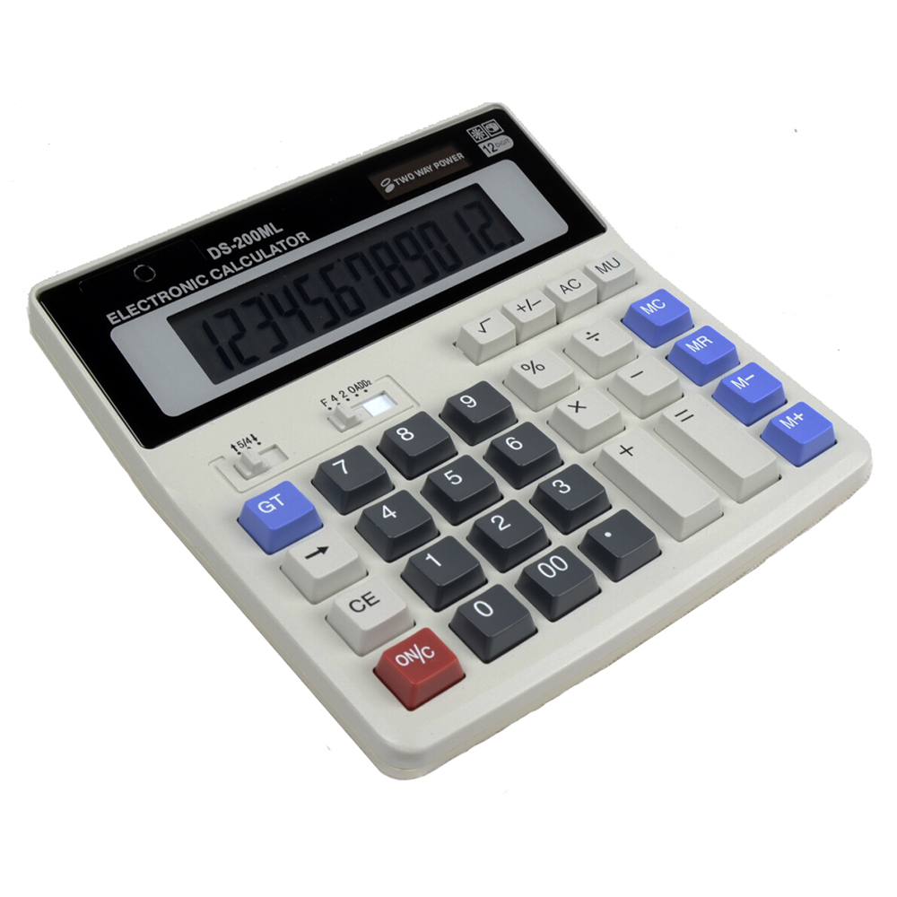 Solar Calculator Office Calculator Large Computer Keys DS 200ML PLUS Office Large Computer Keys