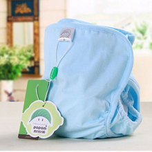 2psc 100% Cotton Newborn Baby Clothes Diaper Children Reusable Underwear Breathable Cotton Training Pants Nappies Pocket Diapers
