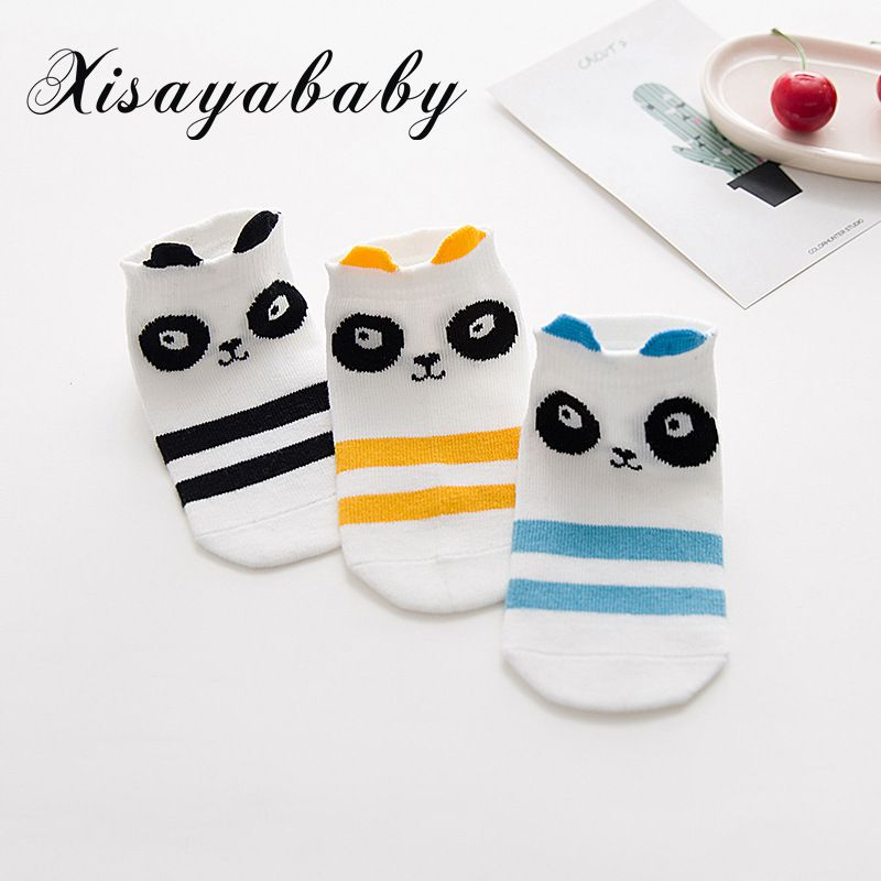 XISAYABABY 3 Pair/lot Breathable baby Socks For boy girl Cartoon Pattern Cotton Kids Socks 8 Kinds Style Suitable For 1-8Y