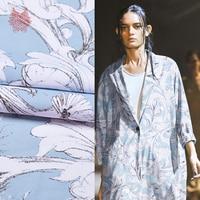 Designer American phong cách floral print streach scuba vải cho áo đầm dày mô vải cho mùa xuân SP3959 MIỄN PHÍ VẬN CHUYỂN
