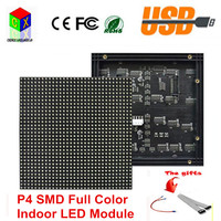 P4 SMD 3in1 Indoor LED Display Module 128*128mm 32*32 pixel 1/16 scan rgb Led Displays Module for P4 LED Video Wall