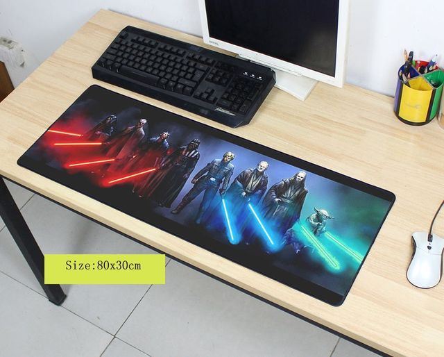 star wars mouse pad Fashion mouse mat laptop padmouse notbook computer 800x300x2mm gaming mousepad HD pattern gamer play mats