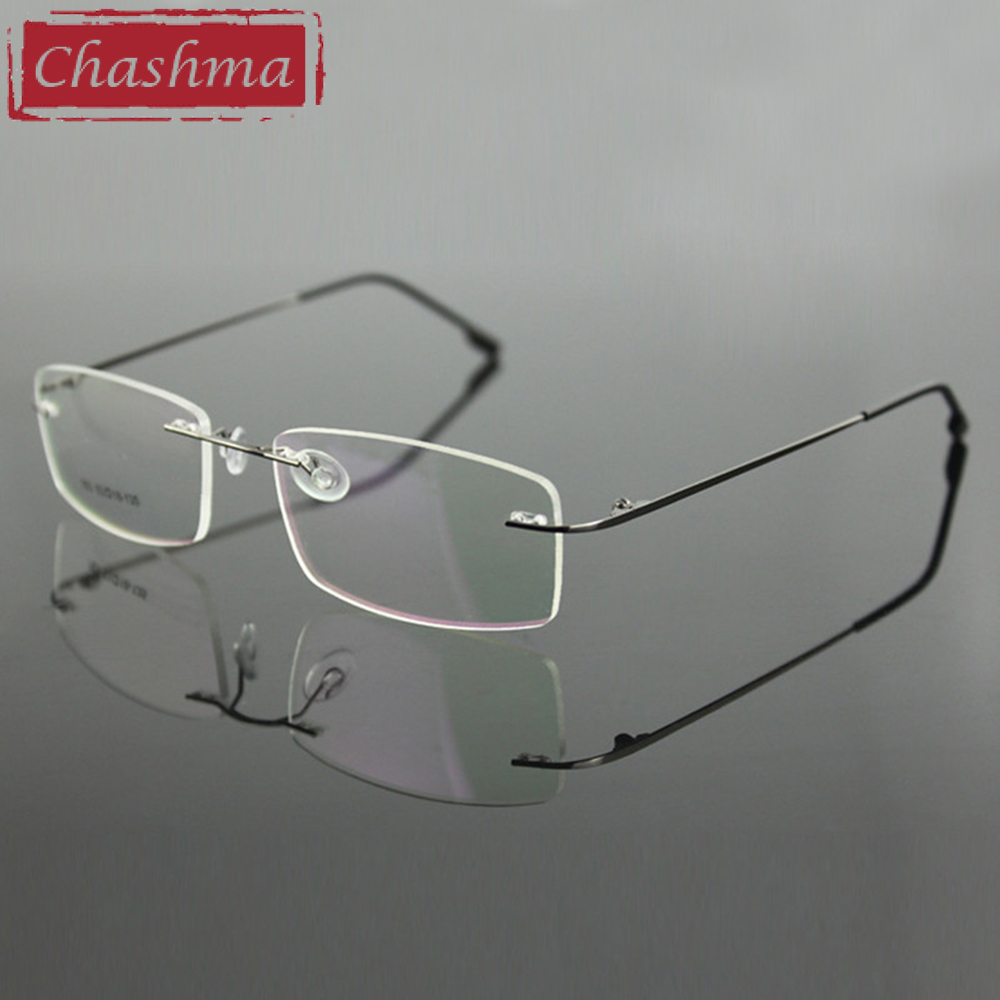 Chashma Randlose Titanlegierung Ultraleichte Myopie Brillengestell - Bekleidungszubehör - Foto 2