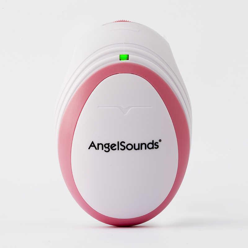 Jumper Angelsounds Fetal Doppler Panduan USG Bayi Monitor Jantung + Earphone + Line-In Kabel USB
