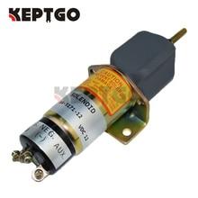SA-5171-12 1502-12C3U1B1S1A 12V Fuel ShutDown Stop Solenoid For Yanmar Kubota Bobcat (3 Terminals)