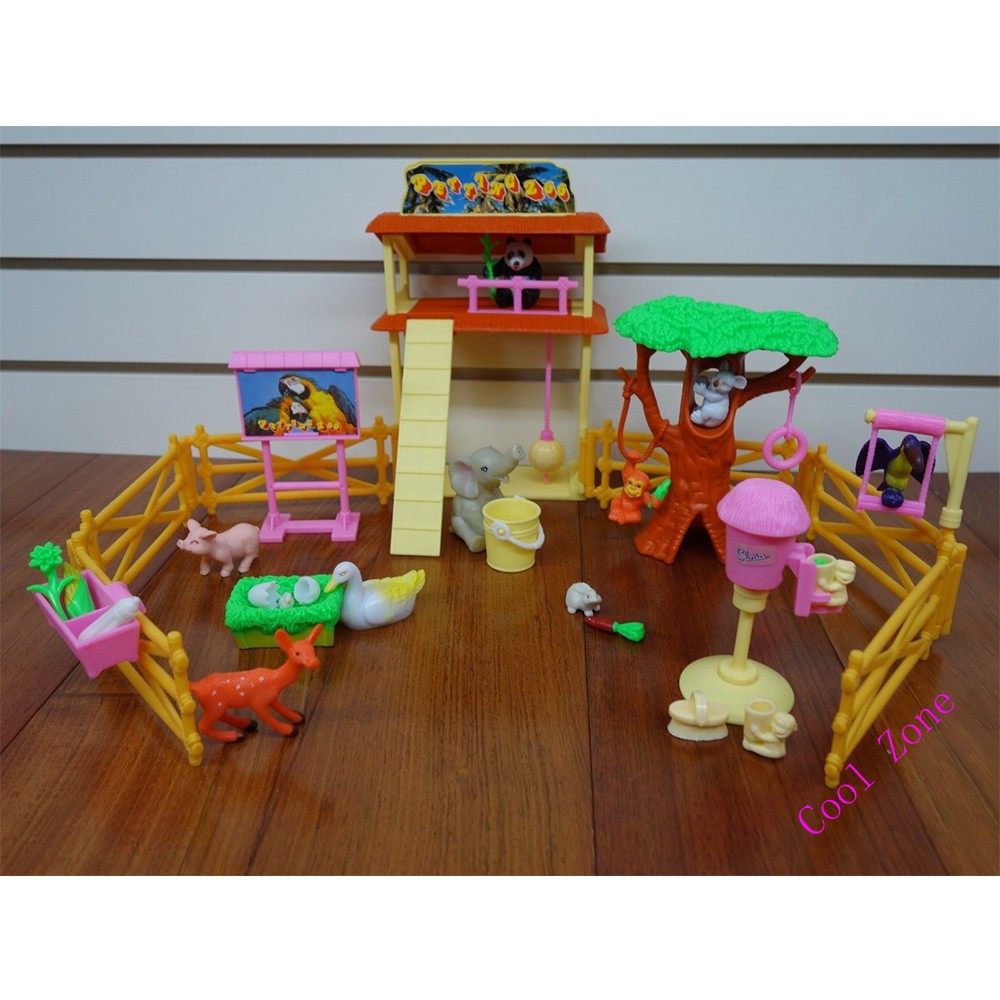 Miniature Furniture Petting Zoo for Barbie Doll House Best Gift Toys ... 96b3339435ae