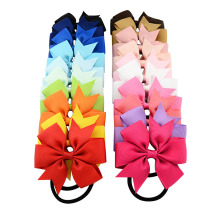 20pcs/lot 3 Inch Boutique Grosgrain Ribbon Girl Bow Elastic Hair Tie Rope Hair Band bows Hair Accessories 610