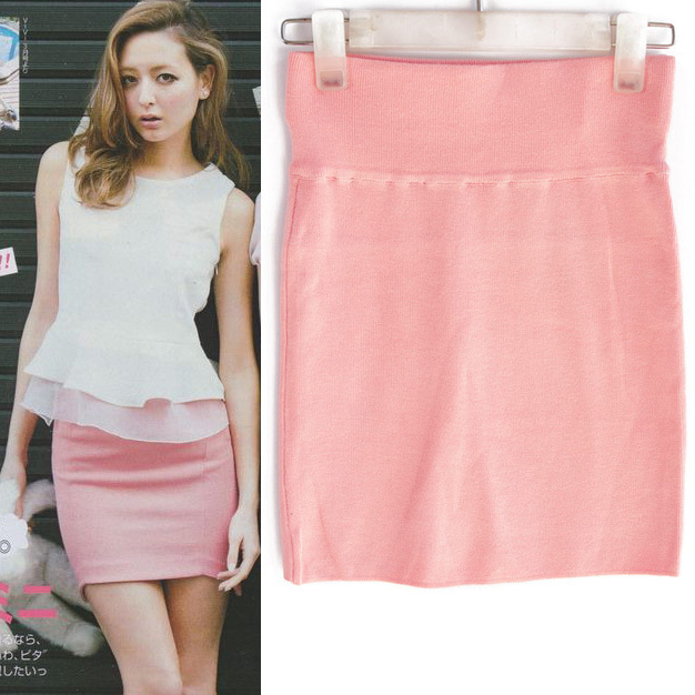 LADIES Candy color knitwear skirt Houndstooth Package Hip Mini Skirt Step - Jazz Still Clothing Ltd, store