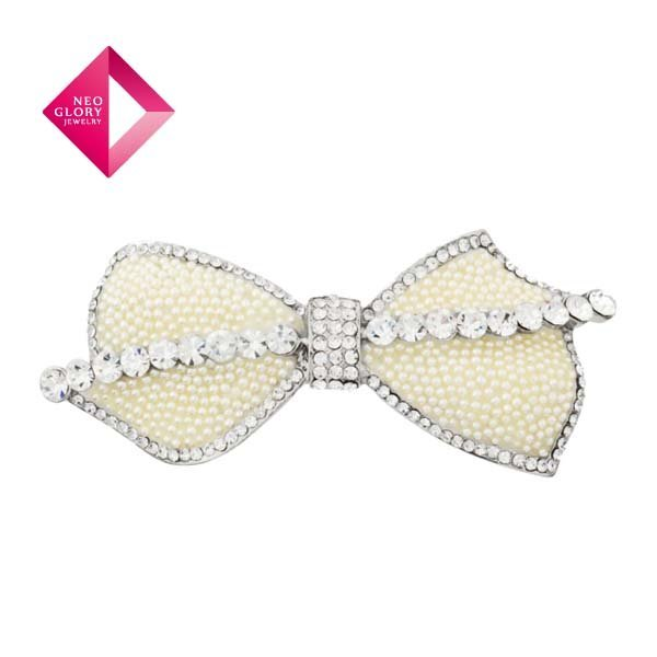 Neoglory Rhinestone Hair Accessories for Girl Women Hair Wear Bow Style New Arrival Valentine's Day Gift