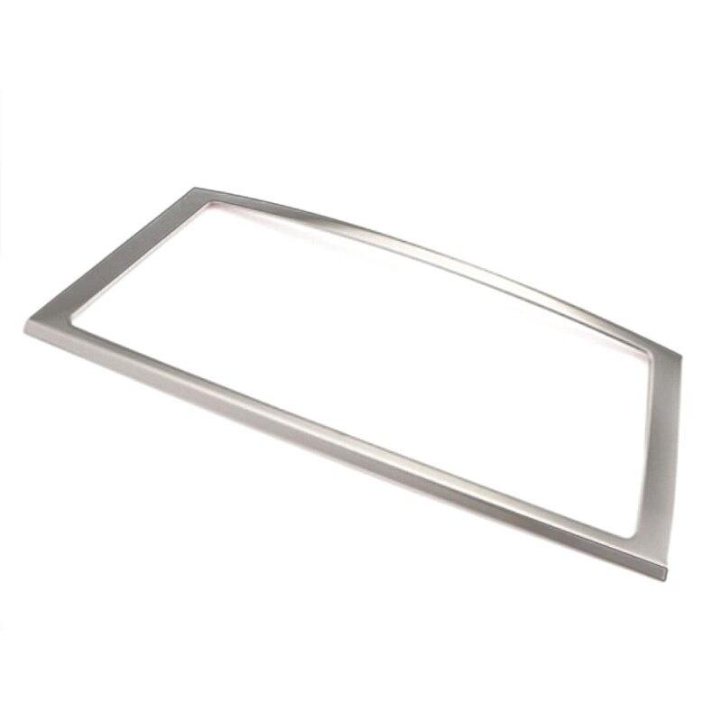 For BMW X6 E71 Interior GPS Navigation Frame Cover Centre Console Decor Trim 1 Piece Steel Matte 2008-2014
