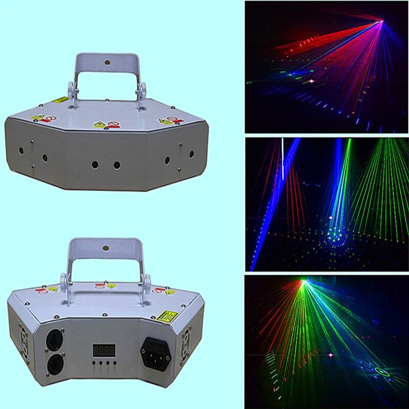 Удивительные рождественских свет чудесные вечерние свет 6 глаза RGB Лазерный свет с решетки эффект для DJ Club диско освещения