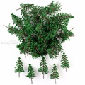 50 x Зеленые кедровые деревья модель сосны для парка ландшафт для железной дороги HO N Масштаб 10 см - фото