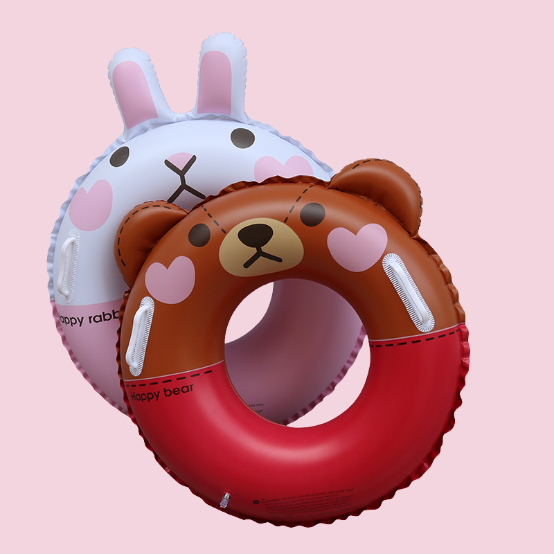 Children Inflatable Swimming Circle Ring Party Fun Brown Bear Cony Rabbit Inflatable Pool Float Party Toy Water Sport Swim Rings