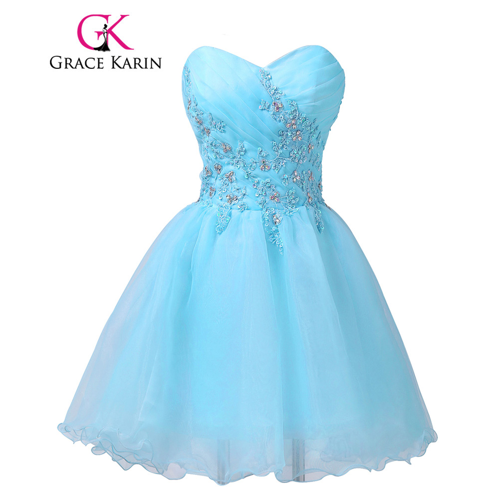 √Grace Karin Short Prom Dress 2018 New Arrival Sweetheart Beading ...