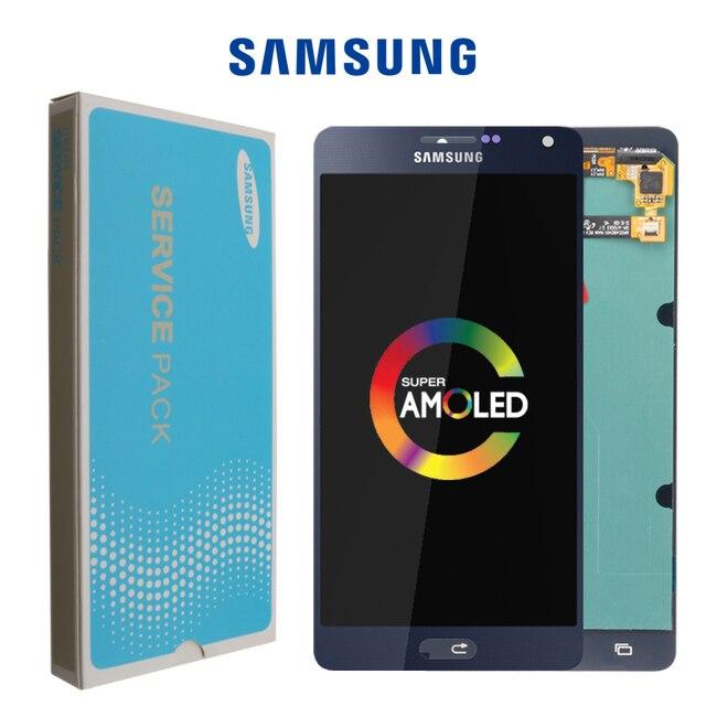 """סופר AMOLED 5.5 """"LCD לסמסונג גלקסי A700 LCD מסך מגע Digitizer עבור SAMSUNG A7 2015 תצוגת A700H A700F a700S A700K"""