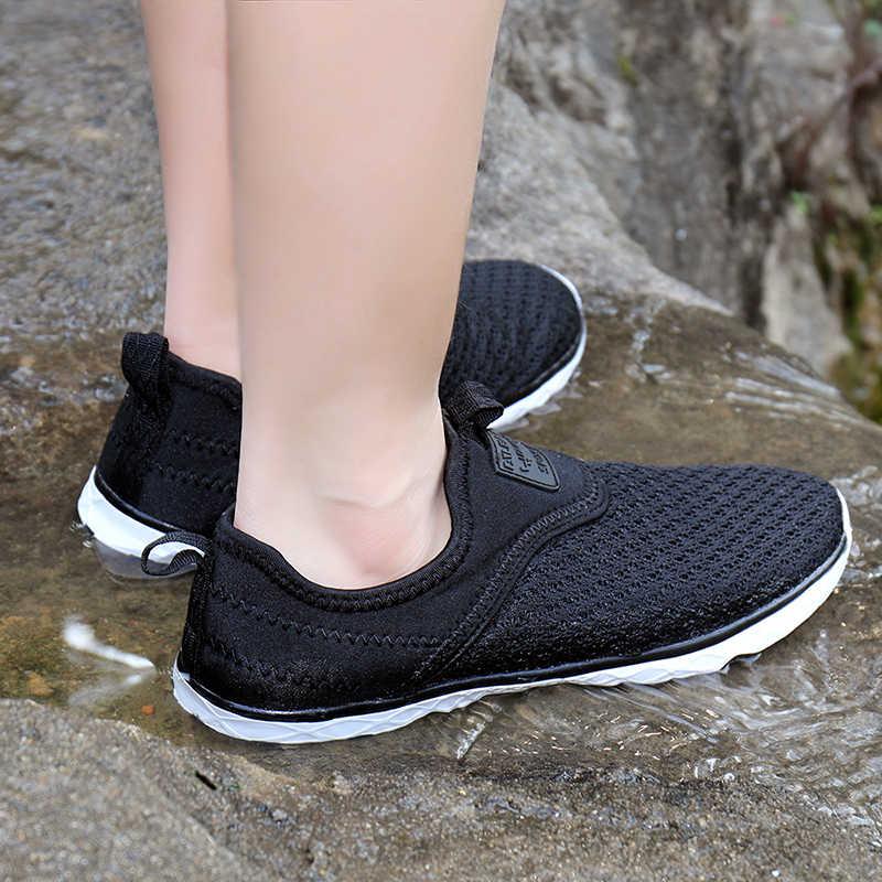 SOCONE 2019 для мужчин воды обувь Легкий слипоны спортивные кроссовки дышащие сетчатые быстросохнущая быстросохнущие кроссовки для 9157 м