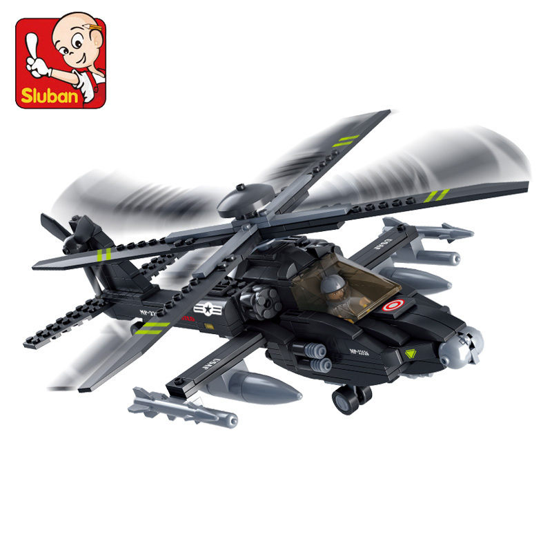 Sluban model building kits compatible with lego city plane 756 3D blocks Educational model & building toys hobbies for children new phoenix 11207 b777 300er pk gii 1 400 skyteam aviation indonesia commercial jetliners plane model hobby