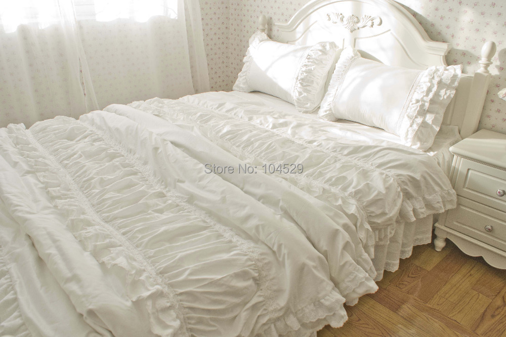 Covers Comforter Twin Queen King Aliexpress Luxury Korean Embroidered  Lace Ruffle Bedding. White Ruffle Duvet Cover Twin   The Duvets