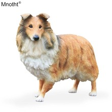 Mnotht  Shetland Sheepdog 1/6 Scotland Rough Collie Dog Model Resin Toy for Scene Accessory Action Figure Collection Gift m5n
