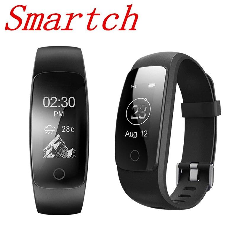 Smartch ID107 RH Plus GPS Smart Bracelet Moniteur de Fréquence Cardiaque Podomètre Bande Bluetooth Activité de Remise En Forme Sport Tracker Bracelet F