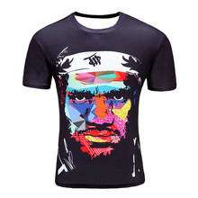 Black James 2017 New men 's T – shirt 3D short – sleeved cotton fashion casual round neck printing