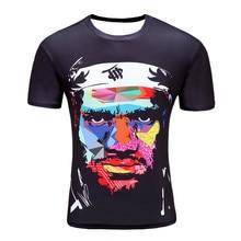 Black James 2017 New men s T shirt 3D short sleeved cotton fashion casual round neck