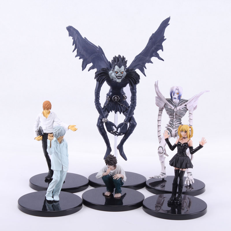 цена на Anime Death Note L Killer Ryuuku Rem Misa Amane PVC Figures Collectible Toys 6pcs/set