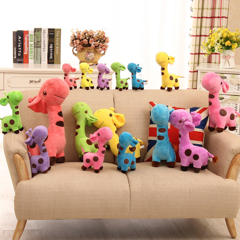 5colors Unisex Cute Gift Plush Giraffe Soft Toy 18cm Animal Doll Baby Kid Child Christmas Birthday Happy Colorful Children Gifts