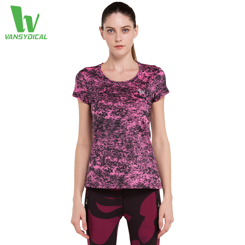 2016 Summer New Women Compression Running Shirts Short Sleeve Tights Tops Yoga Fitness Cycling Quick Dry Breathbale T-shirts