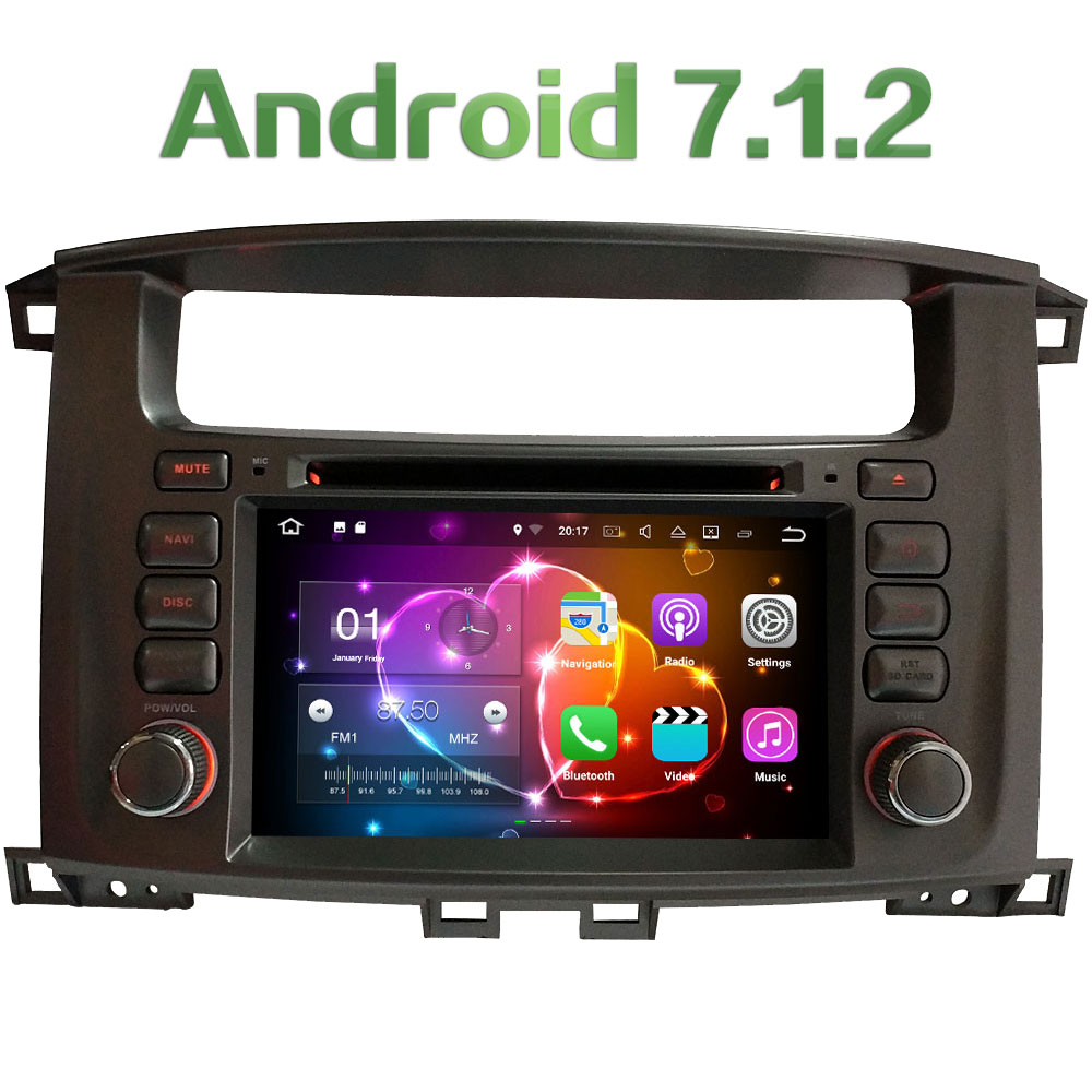 2DIN 7 Android 7.1.2 Quad Core 2GB RAM 16GB ROM car multimedia dvd player For Toyota Lan ...