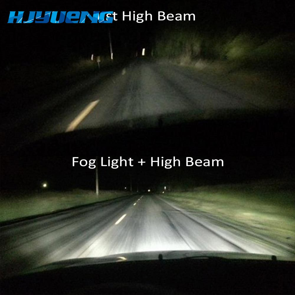 Image 4 - 4Inch Round Wrangler Led Fog Light 30W 6000K White Halo Ring DRL Off Road Fog Lamps Running Lights For Jeep Wrangler JK TJ LJ-in Car Light Assembly from Automobiles & Motorcycles